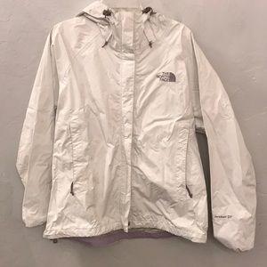 White North Face HyVent Rain Jacket